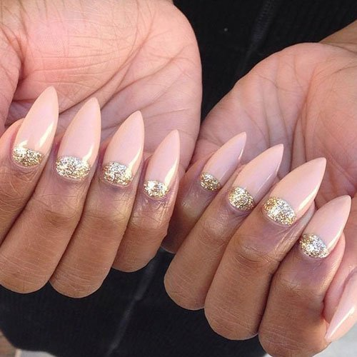 Classy Nude Pointy Nail Designs