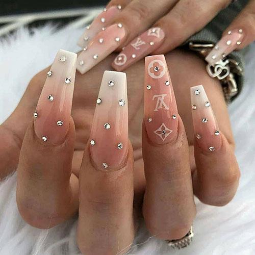 Cute Coffin Shape Nails