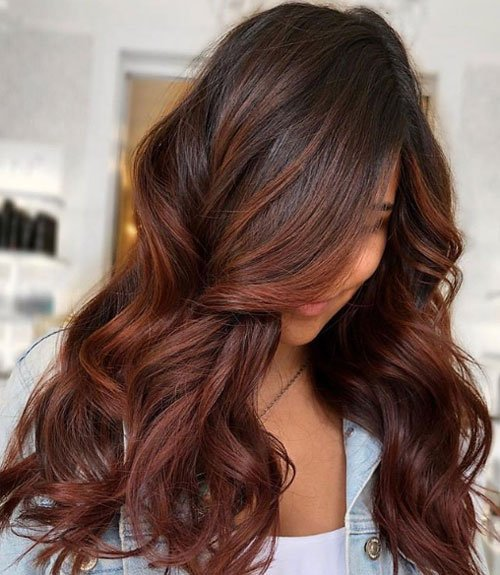 Dark Auburn Hair