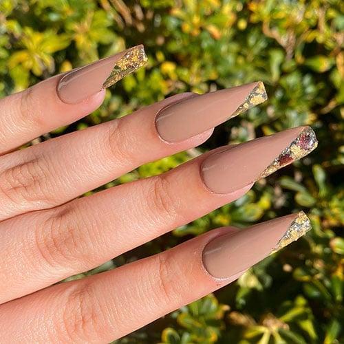 Elegant Coffin Shaped Nails