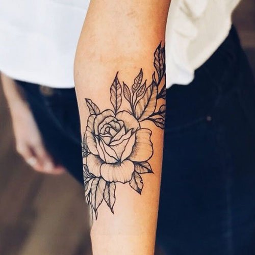Forearm Flower Tattoos