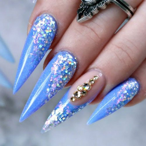 Glue on Stiletto Nails