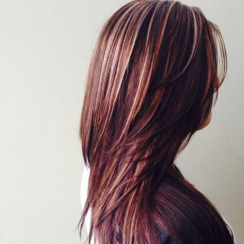 Light Brown Hair with Auburn Highlights