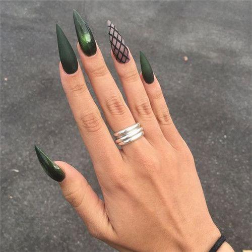 Long Stiletto Acrylic Nails