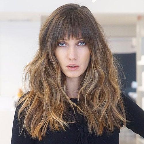 Long Wavy Hair With Bangs