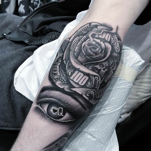 Money Rose Tattoo