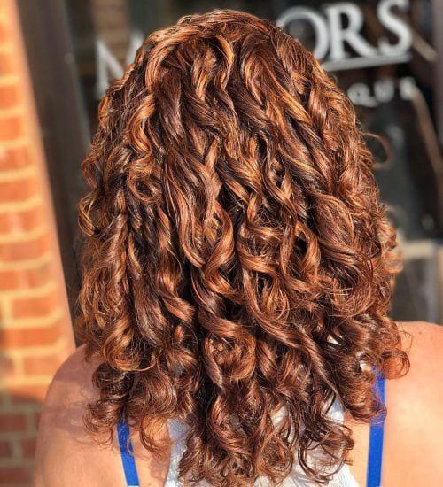 Natural Curly Auburn Hair