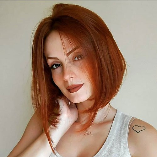 Orange Brown Hair Color