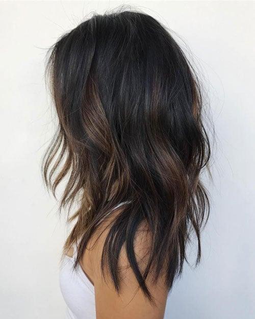 Partial Balayage on Dark Hair