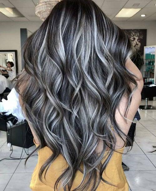 Platinum Highlights on Black Hair