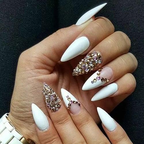 Pointy Stiletto Nail Designs