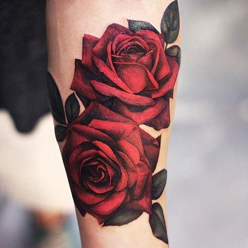 Realistic Rose Tattoo Designs