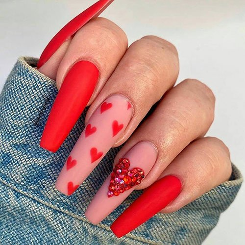 Red Coffin Nails