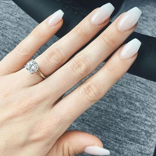 Short Coffin Shaped Nails