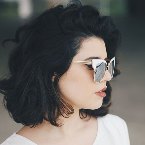 Short Wavy Black Hair