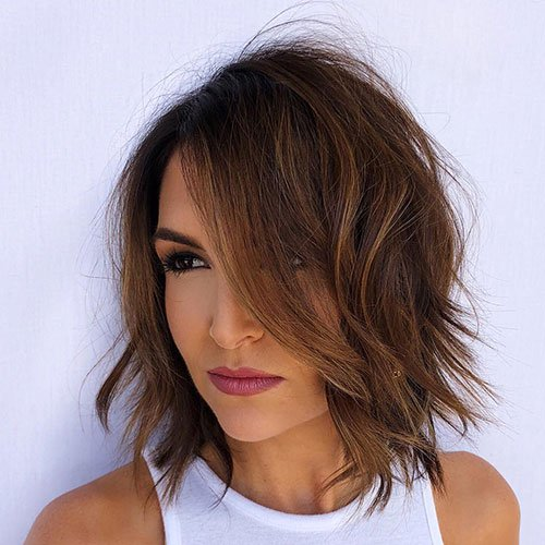 Short Wavy Brown Hairstyle