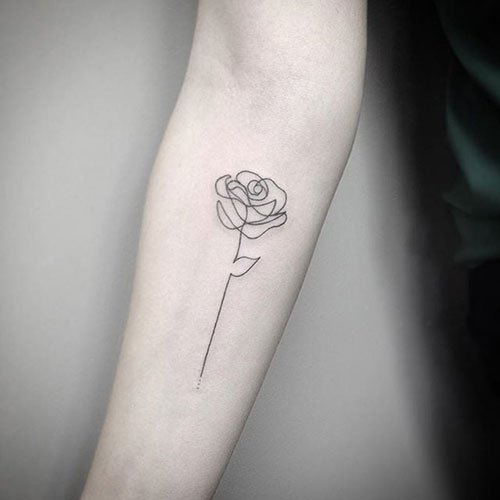 Simple Rose Tattoo