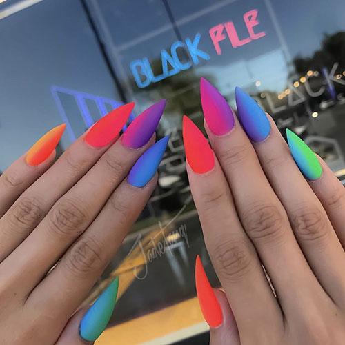 Summer Stiletto Nails