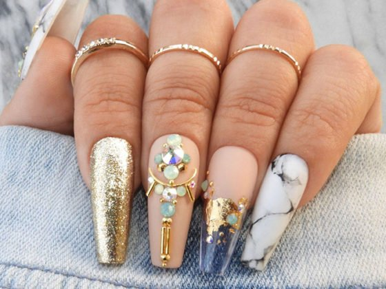 The Best Coffin Shaped Nail Designs