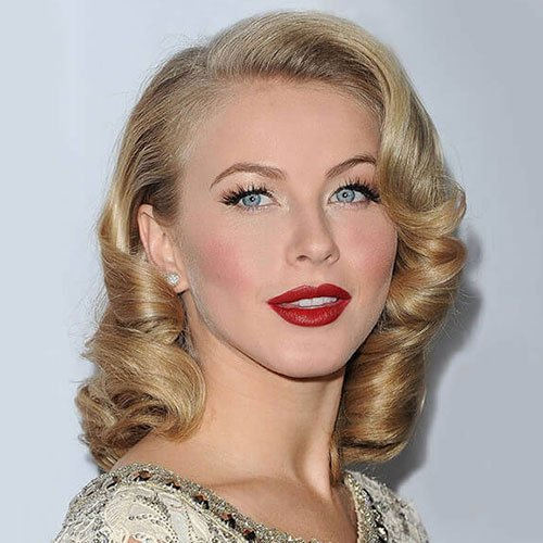 50s Waves Long Hairstyles