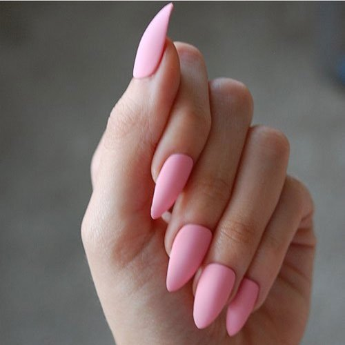 Baby Pink Matte Nails