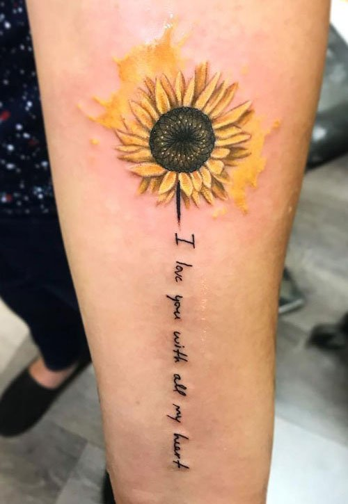Best Forearm Sunflower Tattoo Ideas