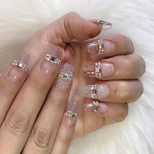 Clear Ombre Nails