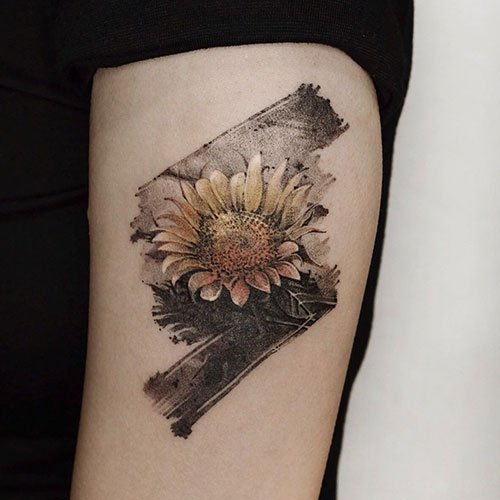 Cool Sunflower Tattoo