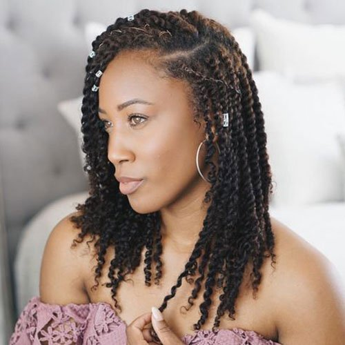 Curly Senegalese Twists