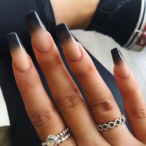 Cute Black Ombre Nails