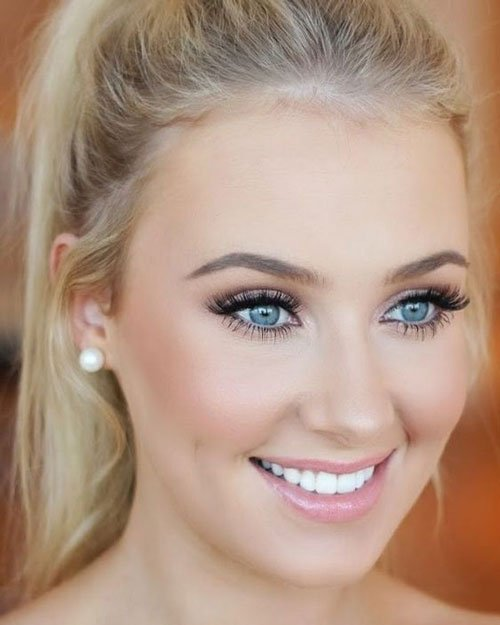 Cute Prom Makeup For Blue Eyes
