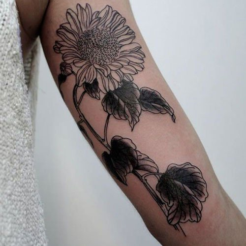 Cute Sunflower Arm Tattoo