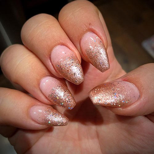 Gold Ombre Nail Designs
