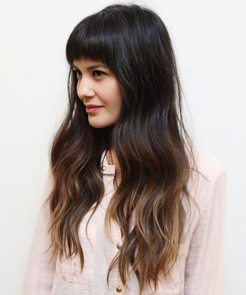 Long Thick Hair With Bangs