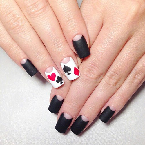 Matte Black Nail Ideas