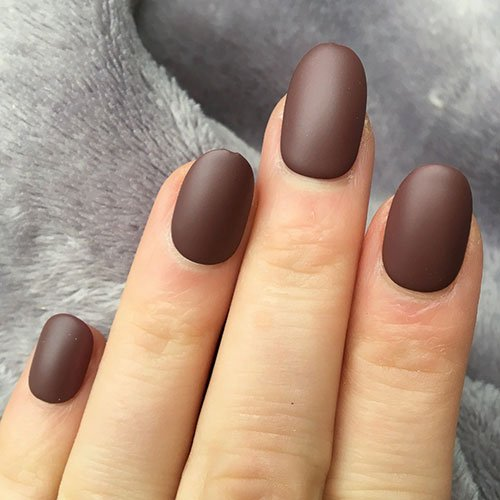 Matte Brown Nails