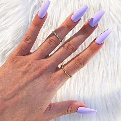 Matte Light Purple Nails