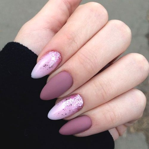 Matte Purple Nail Designs