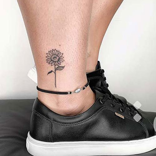 Cute Tiny Sunflower Tattoo Designs