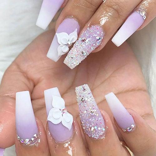 Purple Ombre Nail Designs