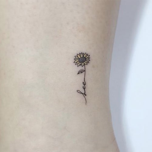 Small Simple Sunflower Tattoo Ideas