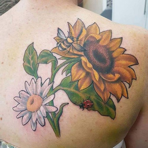 Sunflower Daisy Tattoo