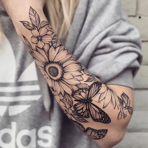 Sunflower Half Sleeve