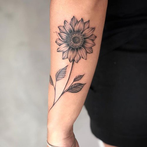 Sunflower Side Arm Tattoo