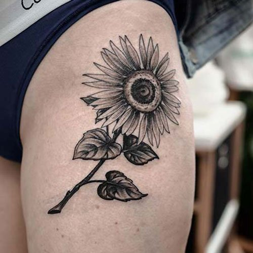 Sunflower Thigh Designs