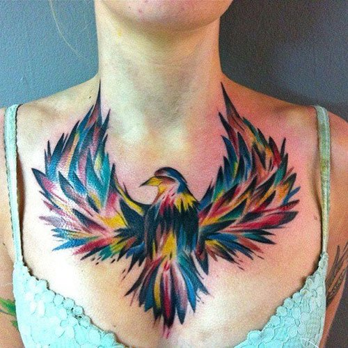Women's Chest Tattoo