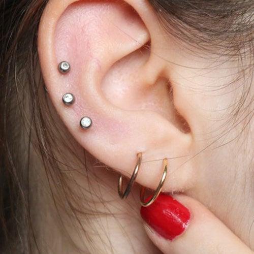3 Ear Piercings