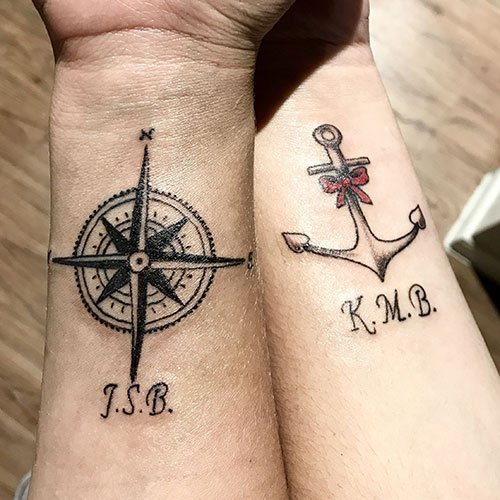 Anchor Couple Tattoos