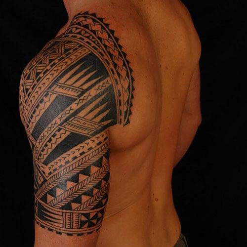 Back Shoulder Tattoos For Guys
