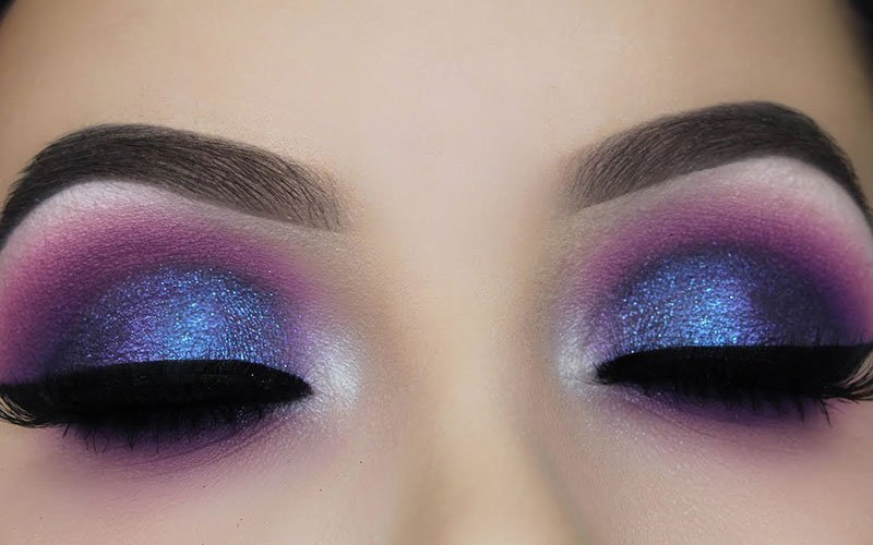 Blue and Purple Eyeshadow Blue Eyes